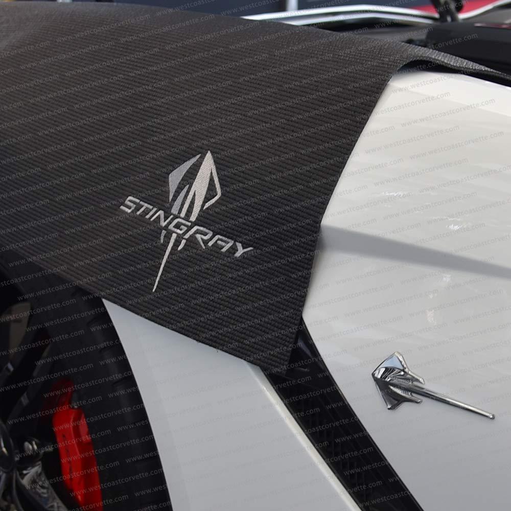 Black C7 Corvette Fender Cover Mat with Stingray Logo