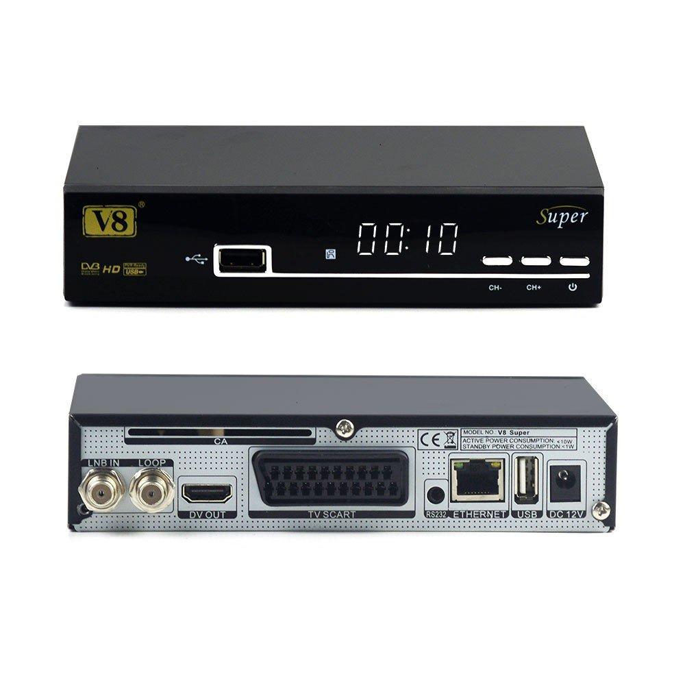 Hd Satellite Tv Receiver Full Powervu Cccam Bisskey V8 Dstv Smart Lnb Installation Diagram Super Dvb S2 Iptv Hot Sale Better Than Opennbox V8s Electronics
