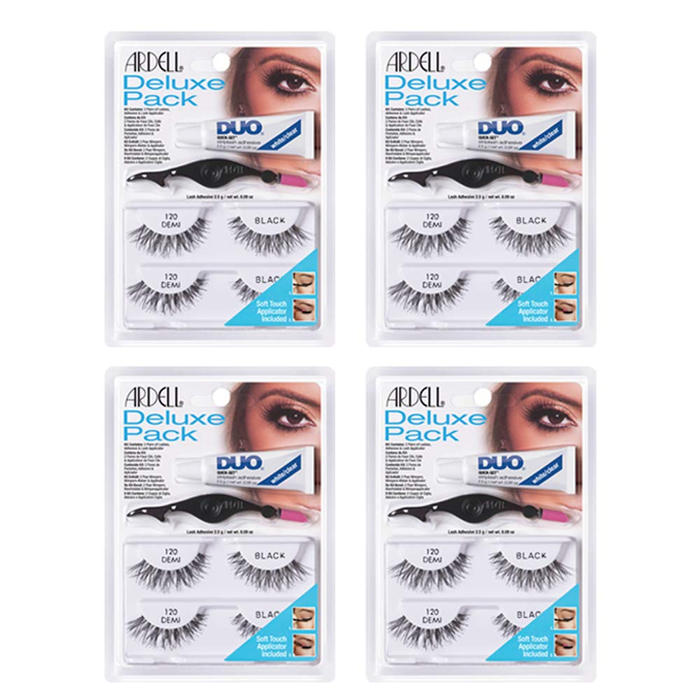 Ardell False Eyelashes Deluxe Pack 120 Black 4 Pack