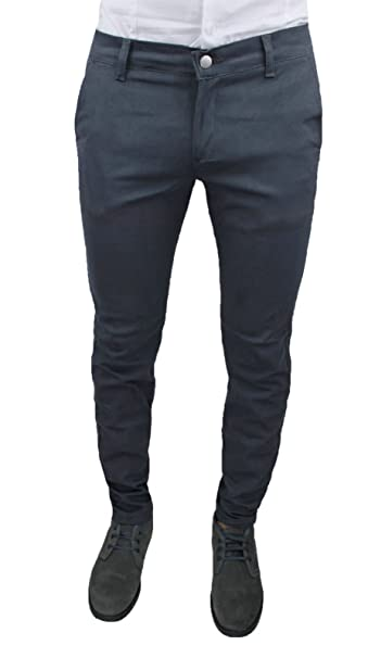 8b9d9c5350 Pantaloni Uomo C. Battistini Jeans Grigio Scuro Sartoriale Slim Fit  Aderente Invernale Casual