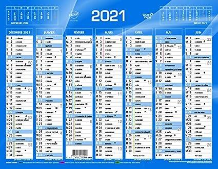 QUO VADIS Calendrier de Banque Bleu 27x21cm 2021: Amazon.fr
