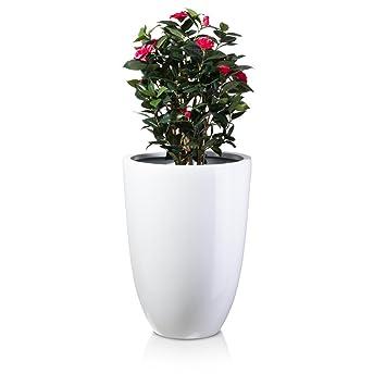 Pflanzkübel Blumenkübel LENO 75 Fiberglas, 55x55x75 cm, weiß ...