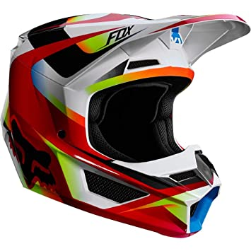 Fox Casco V de 1 Motif Red/White, Tamaño M