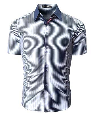 WSPLYSPJY Mens Dress Shirts Slim Fit Short Sleeve Casual Button Down Shirts