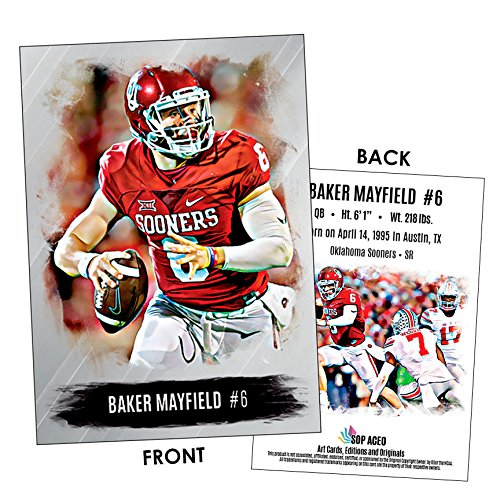 Baker Mayfield 2016 Football Card Oklahoma Sooners NEW! SOP ACEO Cards