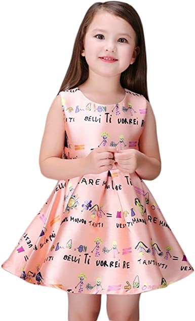 Hstore Children Kids Girl Sleeveless Dance Party Princess Tutu Dress Dance Birthday Wedding Party Dress