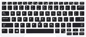 Dell Latitude 14 Keyboard Cover Skins Compatible with 14 Inch Dell Latitude 5480 5490 7490 & Dell Latitude 14 3340 E3340 E5490 E5491 E5450 E5470 E7450 E7470 7480 E7480(Black)