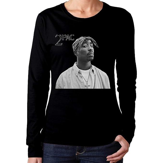 48c500aa6217 Woman's Tupac Shakur Classic Music Band Long Sleeves T Shirts Black S Gift