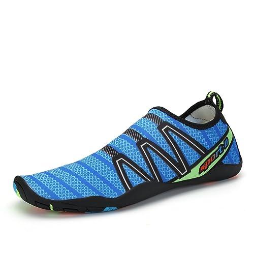 Voovix Aqua Shoes Escarpines Hombres Mujer Zapatos de Agua Zapatillas  Ligeros de Secado Rápido Para Swim bd19ad221643