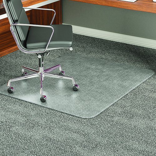 deflect-o CM17443F 46 by 60-Inch Execumat Studded Beveled Chair Mat for High Pile Carpet, Clear by Deflect-O