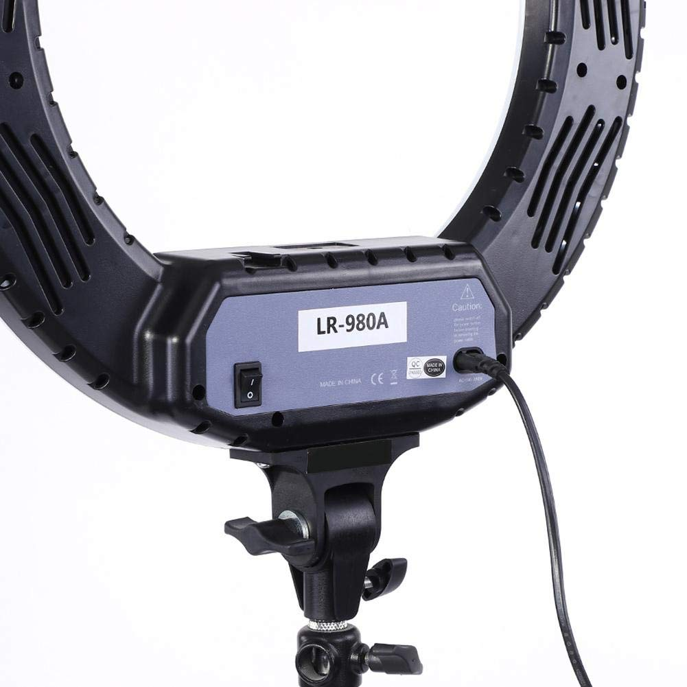fosa Selfie Ring Light Mini 480LED Ring Shape Cell Pone Fill Light with Cell Phone Clip Portable Strap Carrying Bag Supplement Selfie Video Lamp for Live Stream Makeup LR-980A by fosa (Image #9)