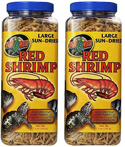 Zoo Med Sun Dried Large Red Shrimp (10oz) by Zoo Med
