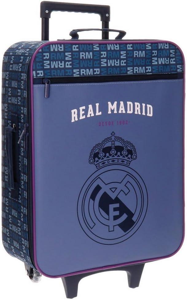 Real Madrid 5649151 Basic Equipaje Infantil, 52 cm, 26 litros