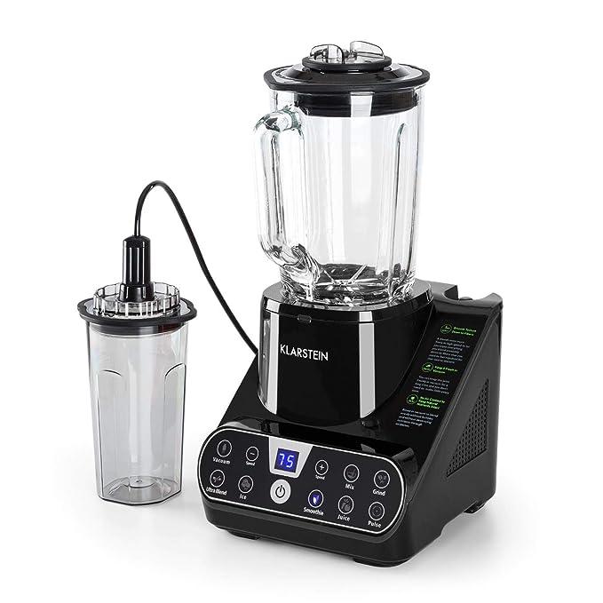Klarstein Airakles Batidora de vaso • Licuadora de vacío • Smoothie • Triturador picahielo • 7 modos • Función de pulso y vacío • 1300W • 26.000rpm • 1,5L ...