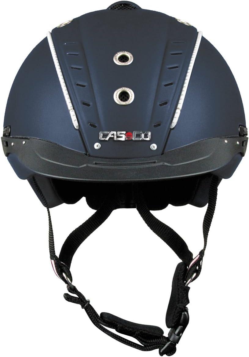 Casco Mistrall 2–Casco de equitación con ribete Norma VG1intercambiable, color azul oscuro Talla S/M = 55–57cm