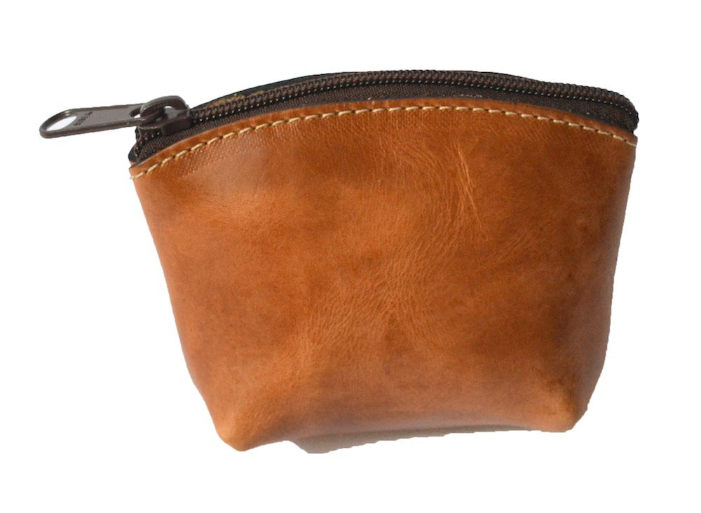 Artisan's Made Leather Coin Purse in Light Brown (leather color) - from Costa Rica.