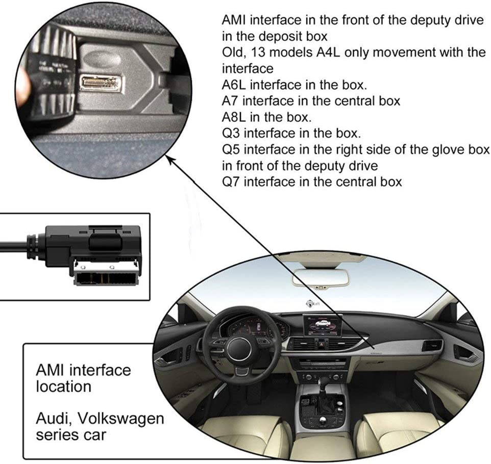 Plus 5 5c Car AMI AUX Cable XS//Max//X// 8//7 //6 //6s 5s 2 in 1 Car Music Audio and Charging Adapter Cord Compatible with iPhone 11 Pro 11 Charging Cord for Audi and VW