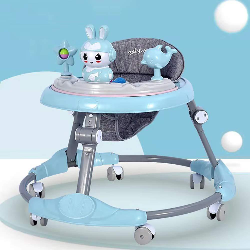 Lauflernwagen f/ür Kinder von 6 bis 18 Monaten Anti-O-Bein und Anti-Rollover Verstellbarer Multifunktions-Lauflernwagen JSHS Lauflernwagen