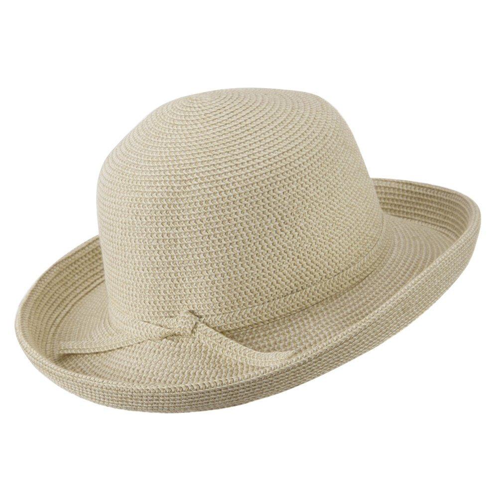 OSFM Tweed Cotton Paper Braid Medium Kettle Brim Hat UPF 50