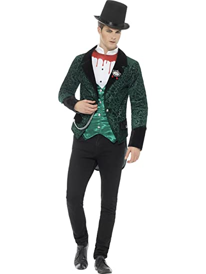 Victorian Men's Costumes: Mad Hatter, Rhet Butler, Willy Wonka Smiffys Mens Deluxe Victorian Vampire Costume $57.41 AT vintagedancer.com
