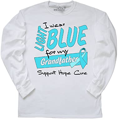 5e24d5f1 inktastic - I Wear Light Blue for My Long Sleeve T-Shirt Small White 2b939