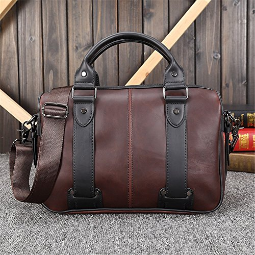 nbsp; Retro Xuanbao Men's Fashion Shoulder Business Travel Tote Casual Bag BvwYxFZqw1