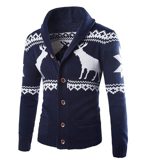 Chaqueta Punto Cárdigan Manga Larga Suéter Jersey con Patrón de ...