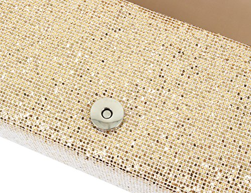 Shiny Womens Prom Sequins for Glitter Purse Shoulder Apricot Bag Party Wedding Clutch Gabrine Handbag Evening 81wqTw