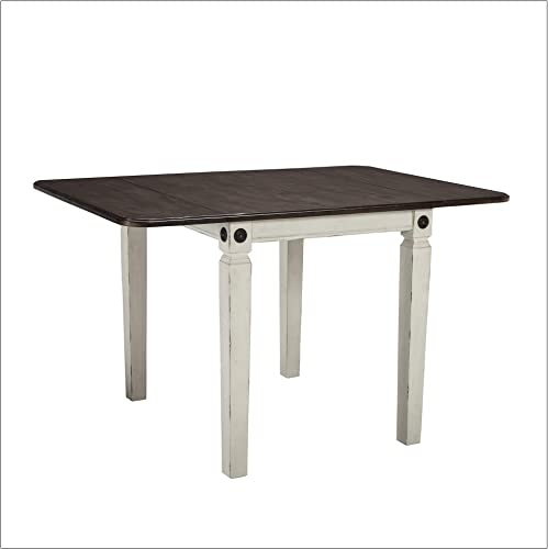Intercon Glenwood Drop Leaf Table Rubbed White Charcoal