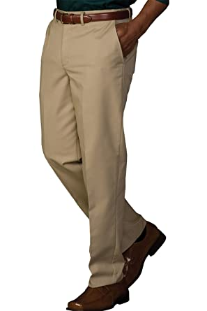 dcc13edfdb2 Edwards Garment Men s Hidden Stretch Waistband Flat Front Service ...