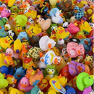"""The Dreidel Company Assortment Rubber Duck Toy Duckies for Kids, Bath Birthday Gifts Baby Showers Classroom Incentives, Summer Beach and Pool Activity, 2"""" (50-Pack)"""