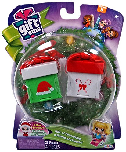 Gift Ems Holiday Santa 2 pack Gift of Friendship a World of Friends Exclusive Series 3