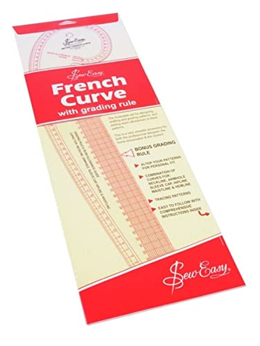Sew Easy NL4199 Metric French Curve 52 x 16.5cm Grading Rule Pattern Making