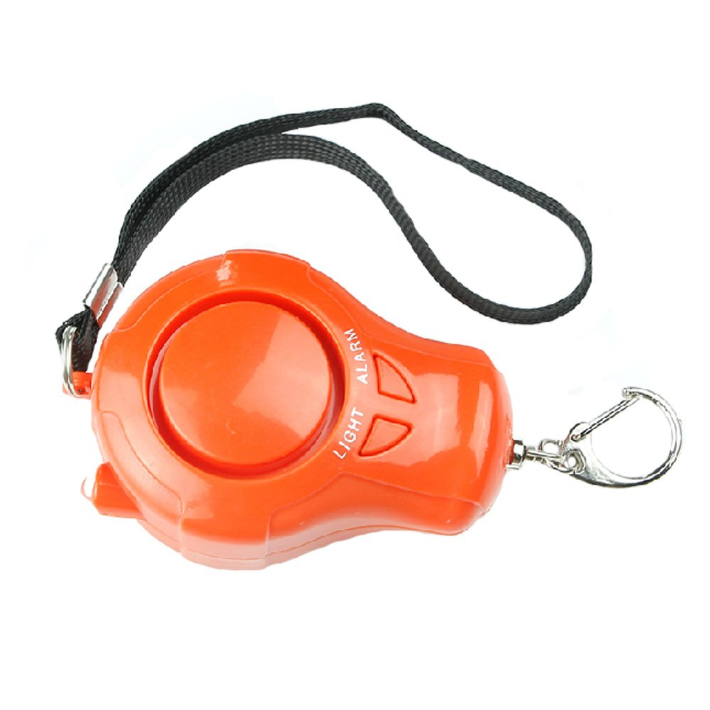 Self-Defence Electronic Personal Security Keychain Alarm with LED Light - Orange Kylin Express