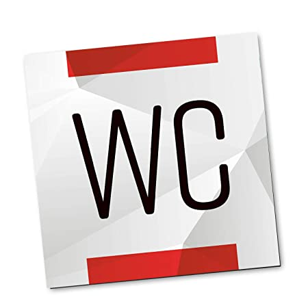 Logbuch-Verlag - Cartel para Puerta de baño (Aluminio ...