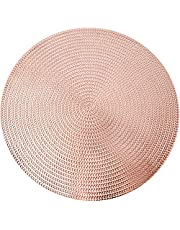 AdasBridal Placemats for Dinner Table Metallic Hollow Out Table Mats Vinyl Place Mats for Table Decor Wedding Accent Centerpiece