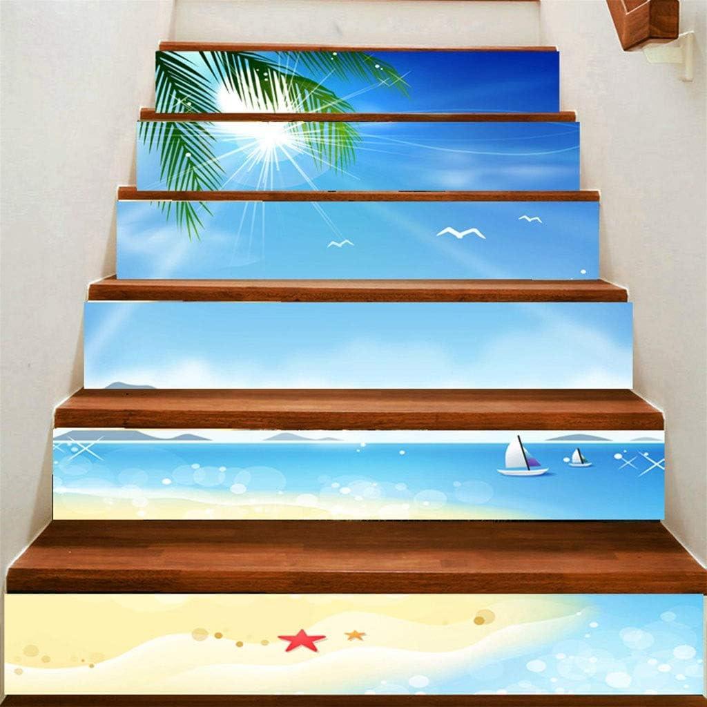 A Prueba De Agua 3D Decoración del Hogar Apliques Escalera Mural Pegatinas Azulejos De Pared Pegatinas Papel Pintado Autoadhesivo: Amazon.es: Deportes y aire libre