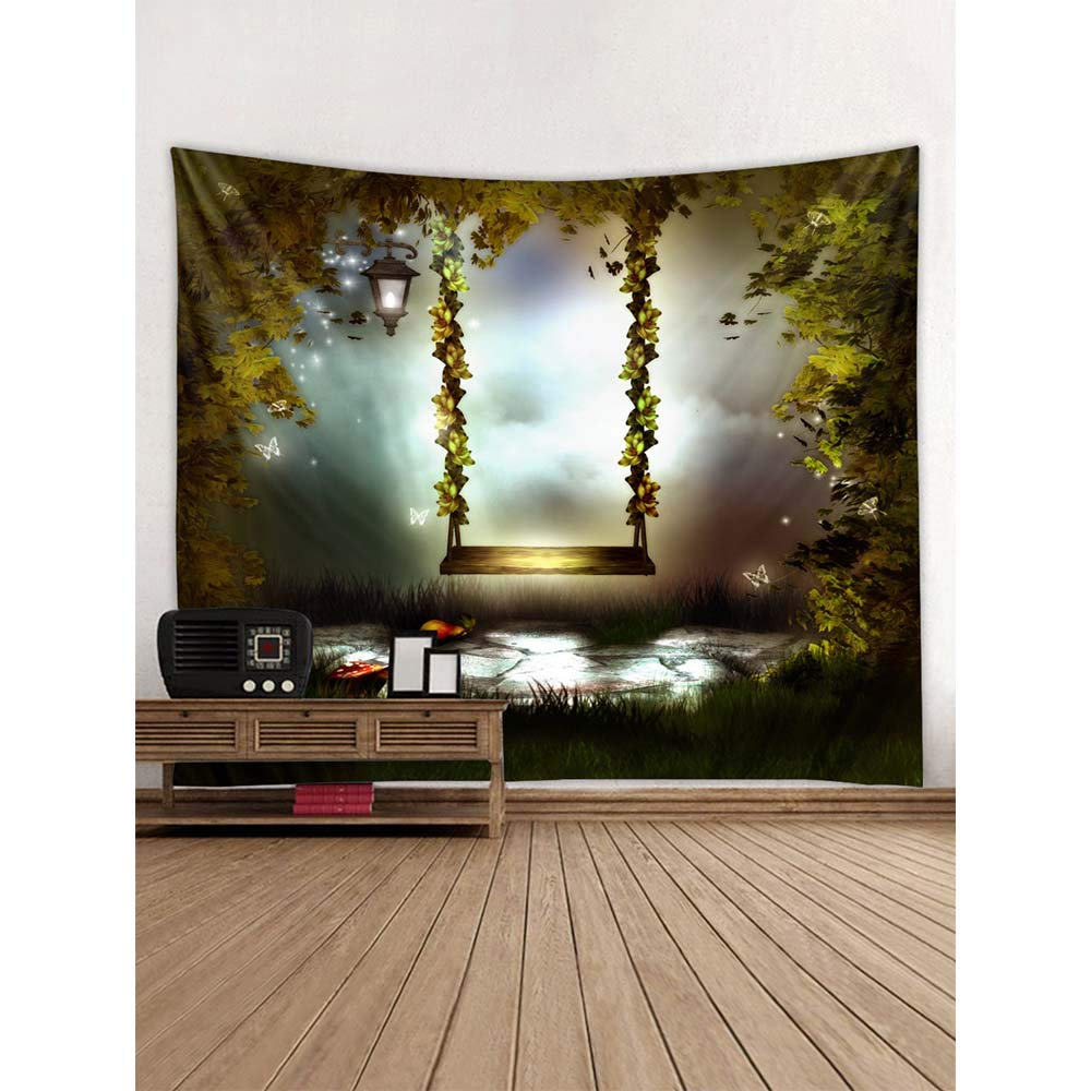 PYHQ Flowers Black Tapestry Wall Hanging Urban Hippie Bohemia Boho Art Polyester Fabric TP321