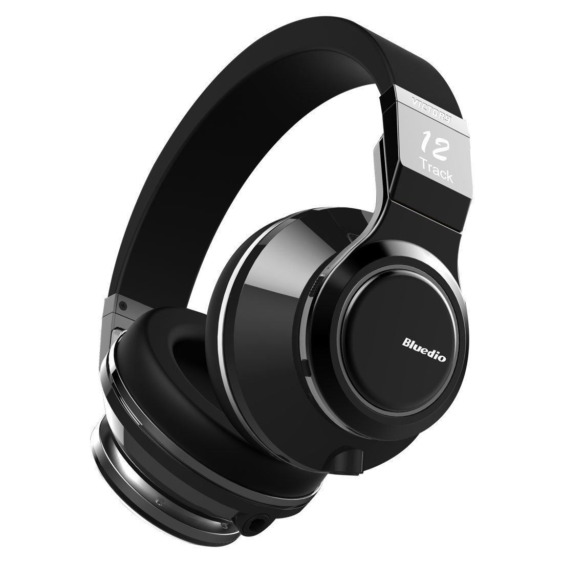 Bluedio V (Victory) Pro Patented PPS12 Drivers Wireless Bluetooth headphones (Black) by Bluedio