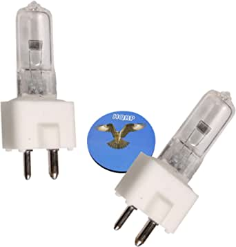 HQRP 2-Pack 24V 150W Halogen Bulb GY9.5 Dentistry Dental Lamp for EFOS 4074 + HQRP Coaster