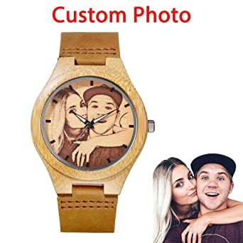 3d05b0b0b Amazon.com  Customized Wooden Men Watch