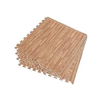 Soft Wood Interlocking Foam Tiles Eva Foam Floor Mats 152 Sqft 4