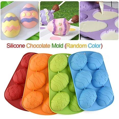 Moldes de Silicona para Repostería Huevos de Pascua 6-cavidad Molde De Silicona para Magdalenas
