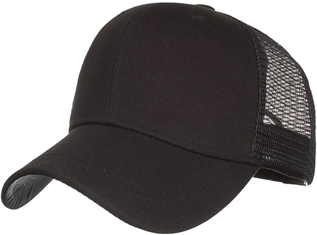 TMEOG Gorra de BéIsbol Para Mujer, Gorra de Media Cola de Caballo Ajustable Transpirable Secado Rápido Gorra Deportiva Sombrero Para Correr