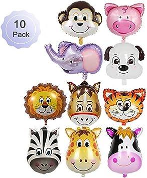 Amazon.com: Borang 10 piezas de globos de animales de la ...