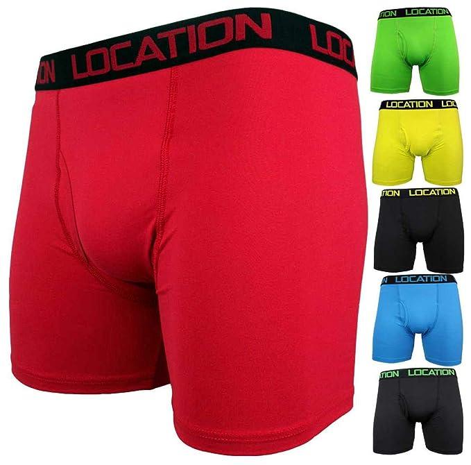 Location 6 pares para hombre Boxer pantalones cortos deportes largo pierna  troncos SUSPENSORIO adultos ropa interior nuevo  Amazon.es  Ropa y  accesorios bd19458e24c7