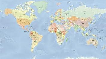 世界地図 ポスター 英語 大きいサイズ オフィス インテリア スタンダード Mサイズ World Map Hotdogger