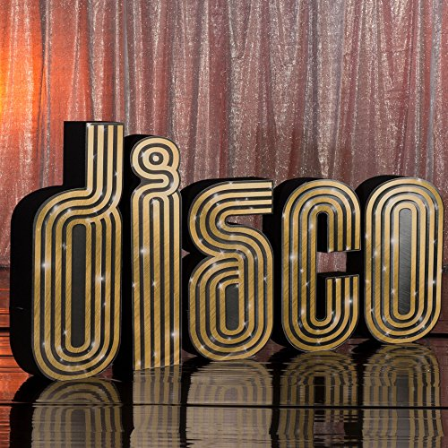 3 ft. 4 in. to 4 ft. 6 in. 70s Seventies Studio 18 Disco Letters Standup Photo Booth Prop Background Backdrop Party Decoration Decor Scene Setter Cardboard - Scene Disco Setters