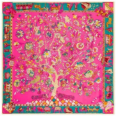 29b0e6c517fa1 Amazon.com: Square Scarf 2019 Luxury Brand Twill Silk for Women ...