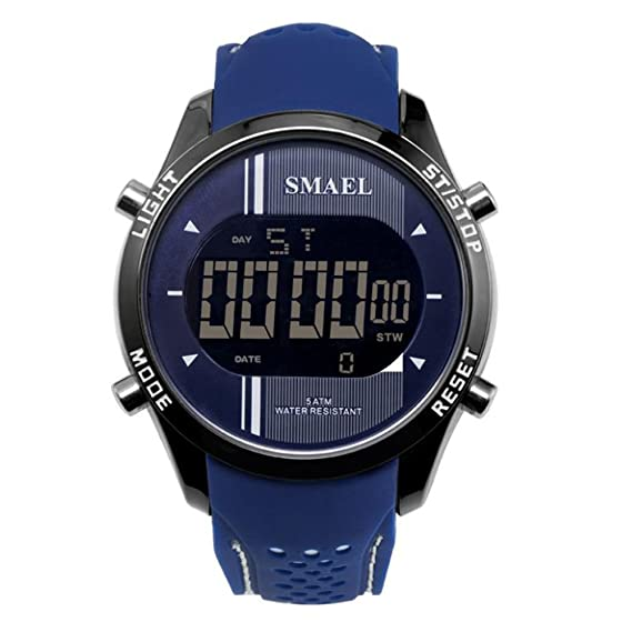 Cool Digital Relojes de pulsera para adolescentes Young Boys Men Blue Dial Relojes: Amazon.es: Relojes